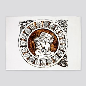 mayan circle 5'x7'Area Rug