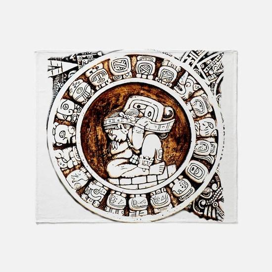 mayan circle Throw Blanket