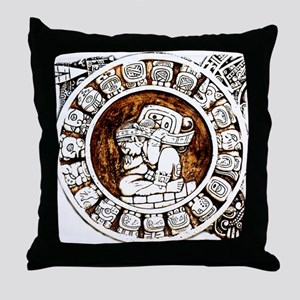 mayan circle Throw Pillow