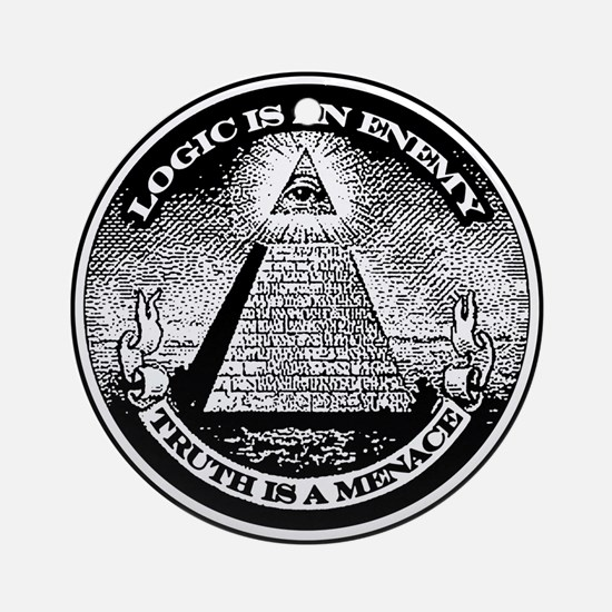 LOGIC IS AN ENEMY / TRUTH IS A MENACE Ornament (Ro