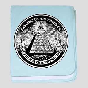 LOGIC IS AN ENEMY / TRUTH IS A MENACE baby blanket