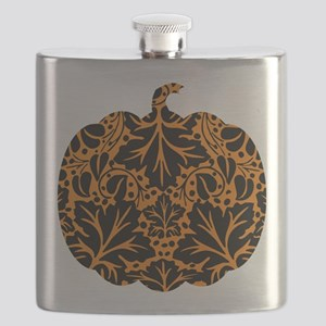 Damask Pattern Pumpkin Flask
