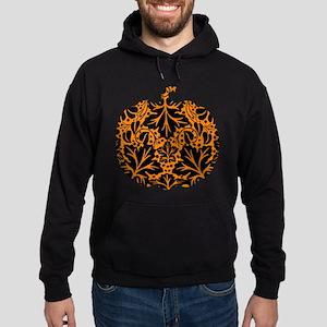 Damask Pattern Pumpkin Hoodie (dark)