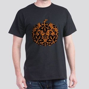 Damask Pattern Pumpkin Dark T-Shirt