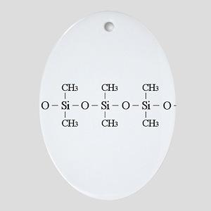 Silicone Molecule Ornament (Oval)