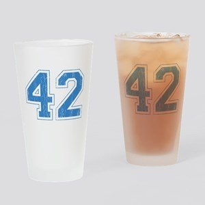 Retro Number 42 Drinking Glass