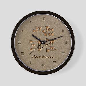 abundance/sand Wall Clock