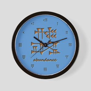 abundance/blue Wall Clock