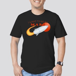 Retro I Want To Go To Mars Men's Fitted T-Shirt (d