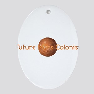 Future Mars Colonist Ornament (Oval)