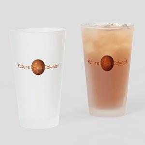Future Mars Colonist Drinking Glass