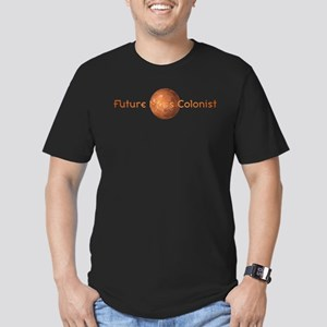 Future Mars Colonist Men's Fitted T-Shirt (dark)