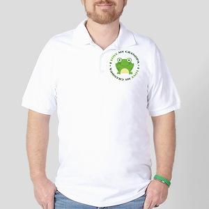 Love Grandpa Frog Golf Shirt