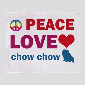 Peace Love Chow Chow Throw Blanket