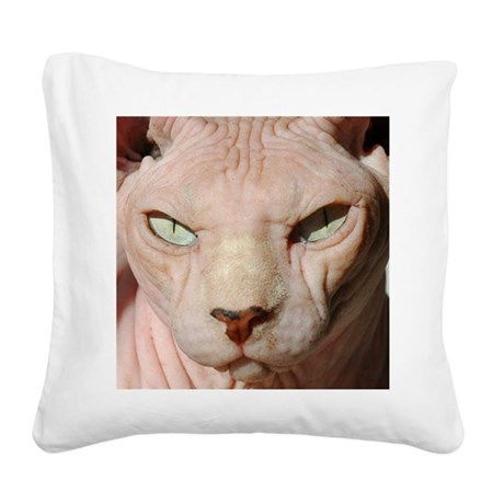 sphynx_eyes Square Canvas Pillow