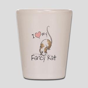 I Love My Fancy Rat Shot Glass