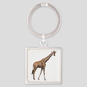 Giraffe Square Keychain