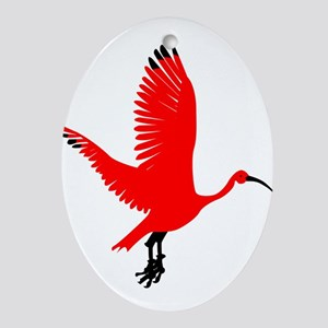 Scarlet Ibis Ornament (Oval)