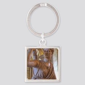 Artemis at the Louvre Square Keychain
