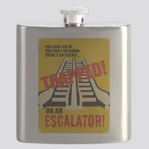 Trapped On An Escalator Flask