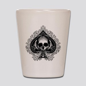 Skull Ace Of Spades Shot Glass