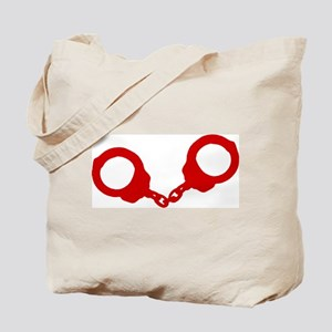 Red Handcuffs Tote Bag