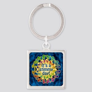 It's a Stimmy Day Square Keychain