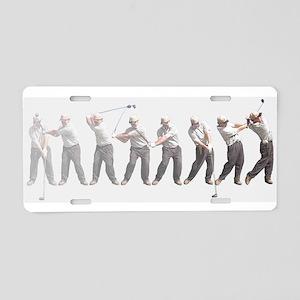 golf swing Aluminum License Plate