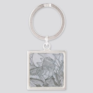 Bearded Dragon Square Keychain