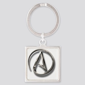 International Atheism Symbol Square Keychain