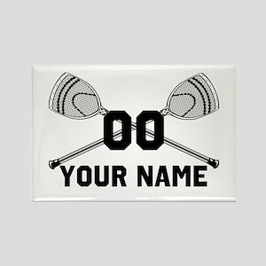 Personalized Crossed Goalie Lacrosse Sticks White