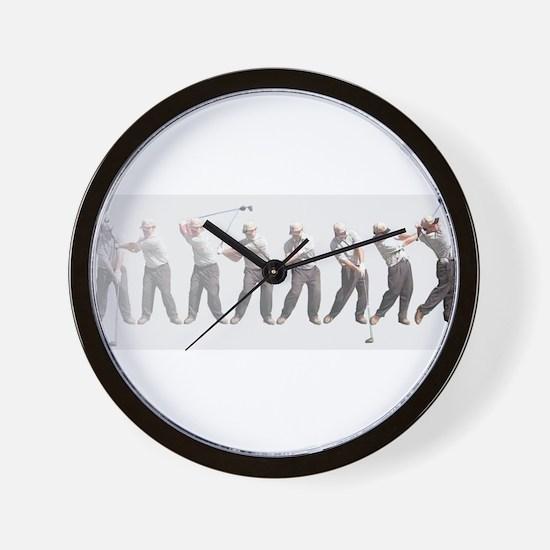 golf swing.jpg Wall Clock