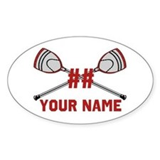 Personalized Crossed Goalie Lacrosse Sticks Red St