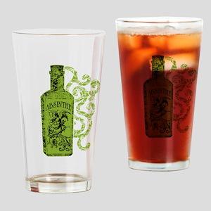 Absinthe Bottle With Swirls Drinking Glass