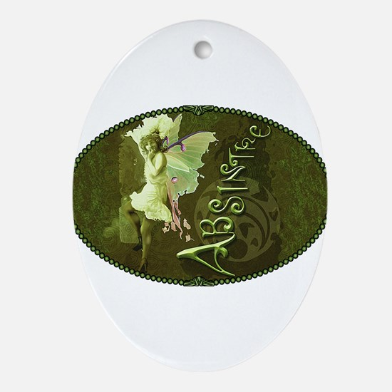 Absinthe Collage Ornament (Oval)
