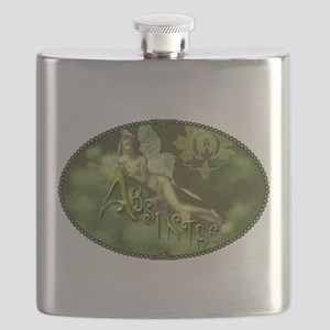 Absinthe Fairy Collage Flask