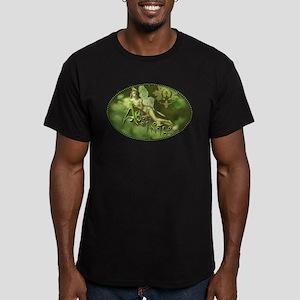 Absinthe Fairy Collage Men's Fitted T-Shirt (dark)