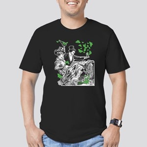 Vintage Couple Carousing Men's Fitted T-Shirt (dar