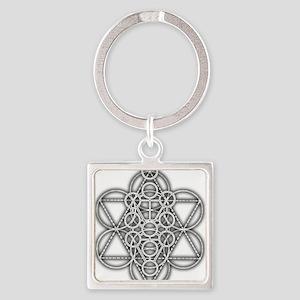 Unity Consciousness Square Keychain