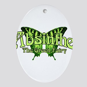 Absinthe The Green Fairy Wings Ornament (Oval)