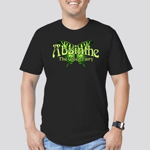Absinthe The Green Fairy Wings Men's Fitted T-Shir