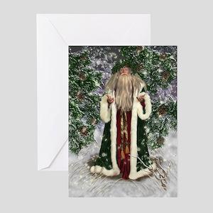 father christmas greeting cards pk of 10 - Holiday Christmas Cards