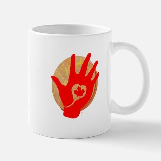 Idle No More - Red Hand and Drum Mug