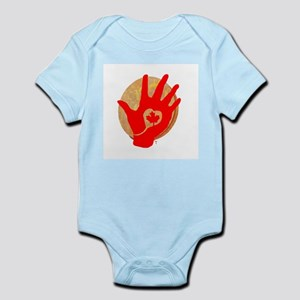 Idle No More - Red Hand and Drum Infant Bodysuit