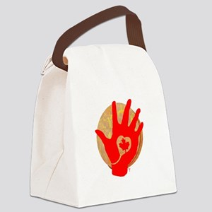 Idle No More - Red Hand and Drum Canvas Lunch Bag