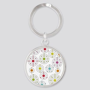 Periodic Shells Round Keychain