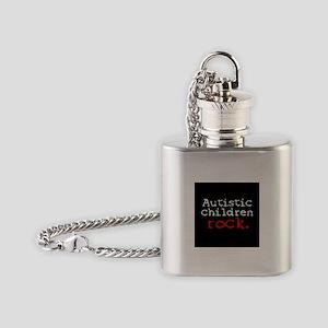 Autistic Children Rock Flask Necklace