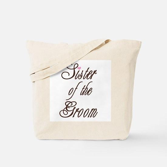 Classy Browns Sister of Groom Tote Bag