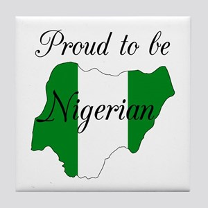Proud to be Nigerian (map #2) Tile Coaster