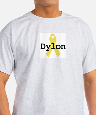 Yellow Ribbon: Dylon Ash Grey T-Shirt